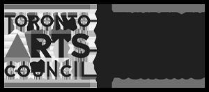 Toronto Arts Council black and white logo