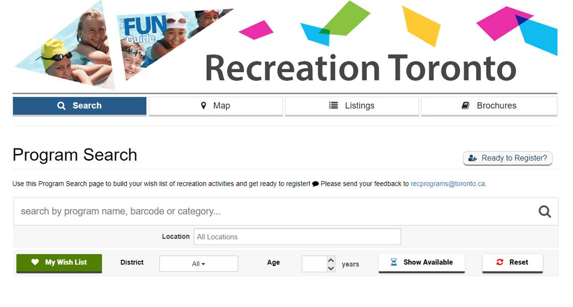 Toronto fun guide winter registration new to canada.
