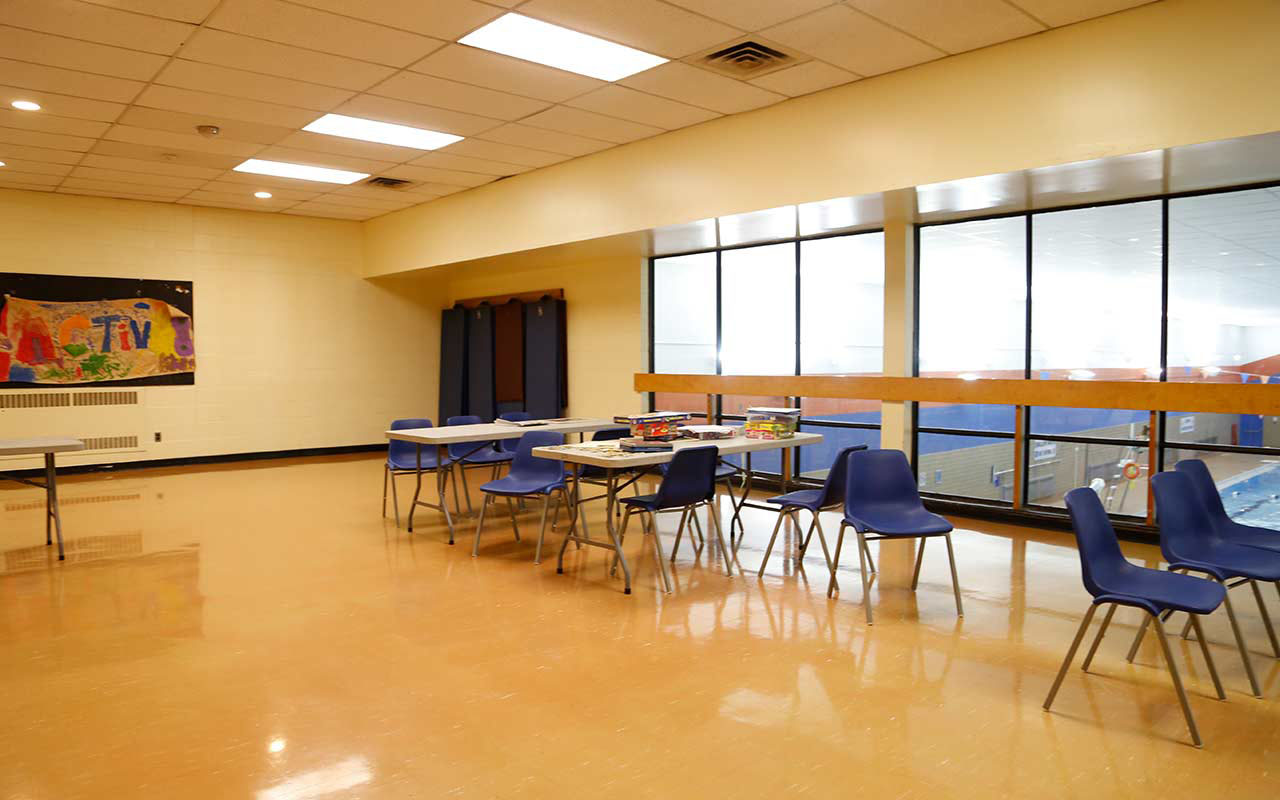 Multipurpose room at Jimmie Simpson Community Centre