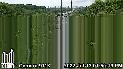 Webcam of Don Valley Parkway at CP Rail Bridge