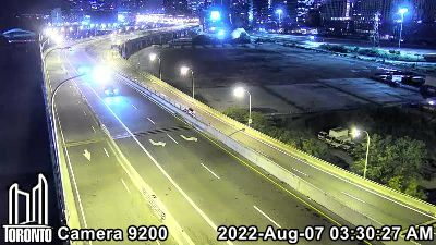 Webcam of Gardiner at Don Valley Parkway