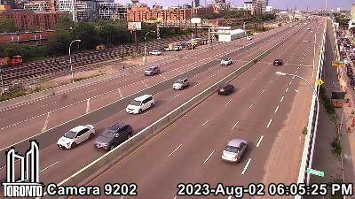 Webcam of Gardiner Expressway at Jarvis