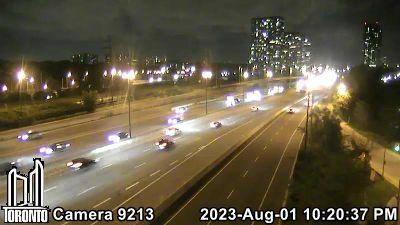 Webcam of Gardiner Expressway at Palace Pier Crt