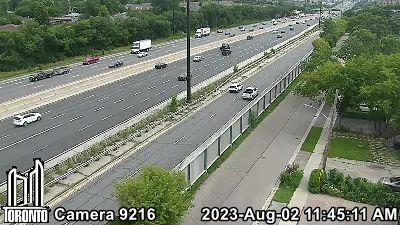 Webcam of Gardiner Expressway at Royal York