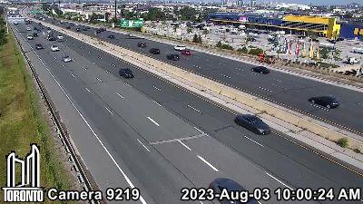 Webcam of Gardiner Expressway at Wickman Road