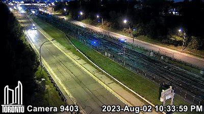 Webcam of Allen Expressway at Glengrove Avenue