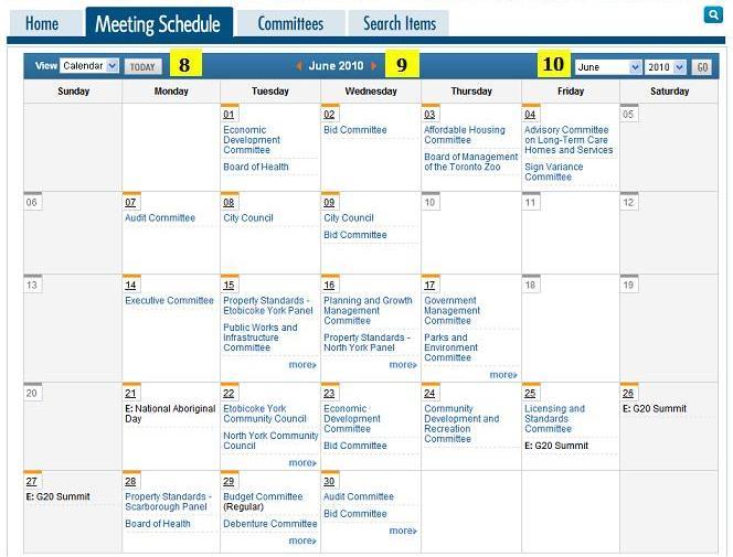 TMMIS Help - Meetings, Agendas and Minutes