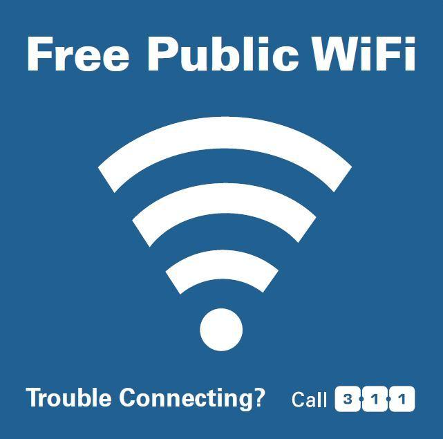 Free Public Wifi sign