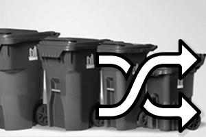 Garbage bin - exchange size