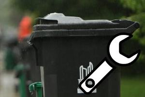 Garbage/Recycling Bin - damaged