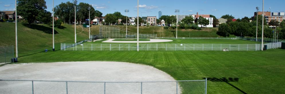 Baseball diamond at Christie Pitts park
