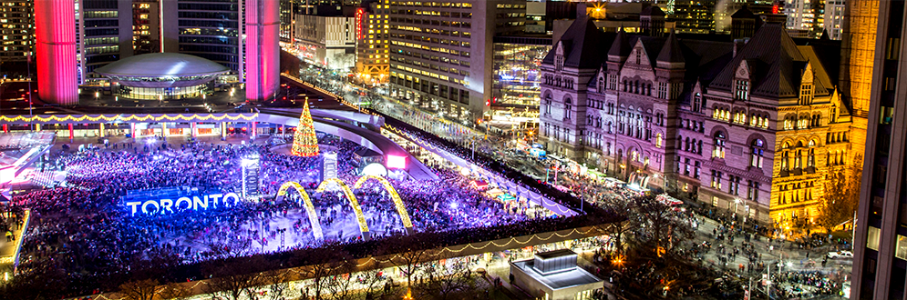 Cavalcade of Lights at Nathan Phillips Square