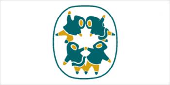 Flag with symbols of Inuit Tapiriit Kanatami
