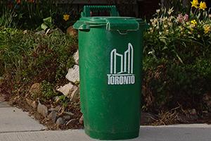 Old Style Green Bin - damaged