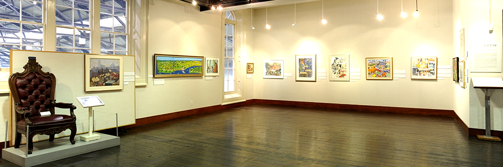 The interior of the Market Gallery art collection chamber.