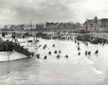 Canadian troops land in Normandy France on D-Day June 6, 1944