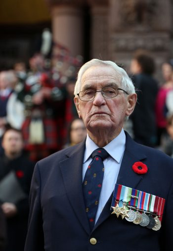 Veteran participating in the The Two Minutes of Silence