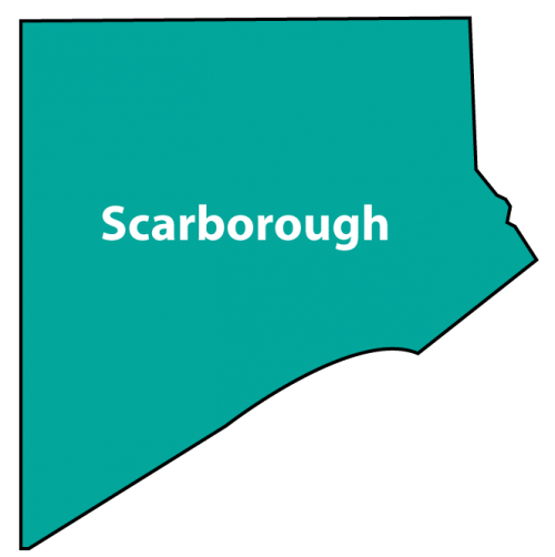 Map shows boundary of Scarborough