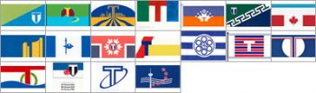 City of Toronto flag competition samples from 1999