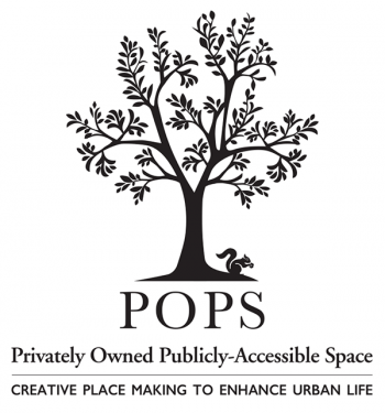 POPS signage template and logo featuring a tree with many leaved branches