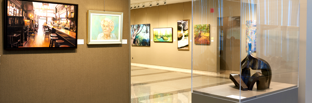 Interior of the Etobicoke Civic Centre Art Gallery.