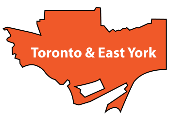 Map showing boundary of Toronto & East York