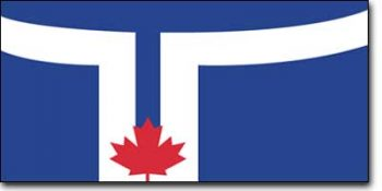 The official flag of the City of Toronto