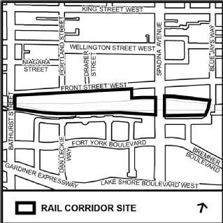 Study Area for the Rail Deck Park Official Plan Amendment