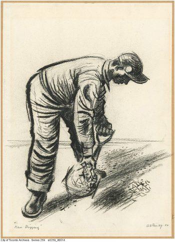 Man digging, 1950