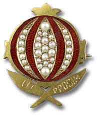 picture of image of Alumnae Assoc. Pomegranite pin
