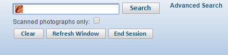 Archives database search bar and search button.