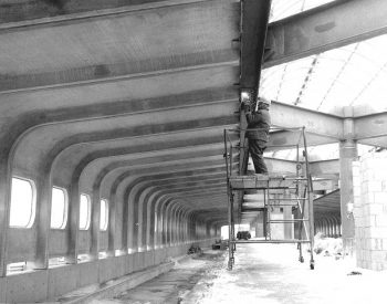 Construction of Yorkdale subway station