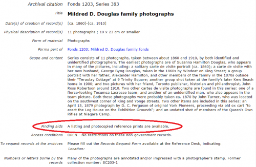 Fonds description with note about the existence of printed finding aids.