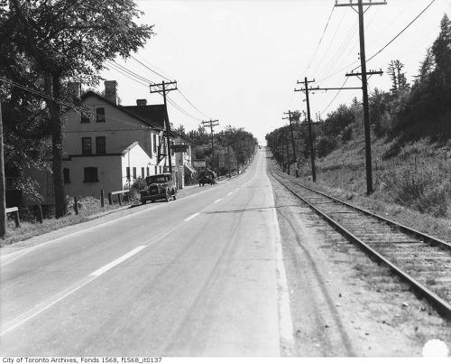 Yonge Street, North York - looking south from Jolly Miller Hotel