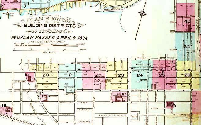 Goad's Fire Insurance Plan of Toronto, 1880, Key Plate 1