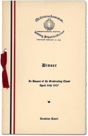 Programme for graduation dinner