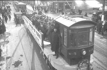 Introduction of streetcar route on Rogers Road, York Township November 19, 1924