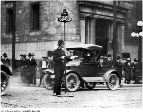 Policeman, corner of King and Yonge streets