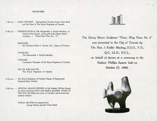 Program showing order of ceremonies