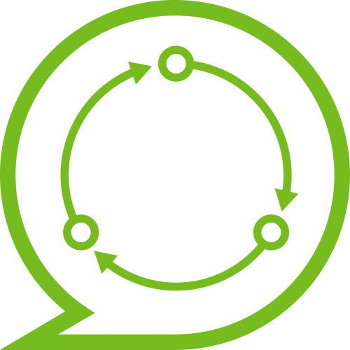 Icon representing an iterative process