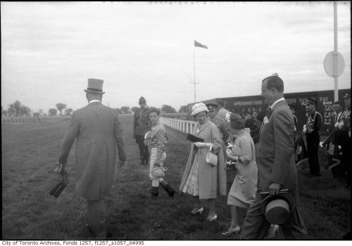 Her Majesty at the Woodbine racetrack