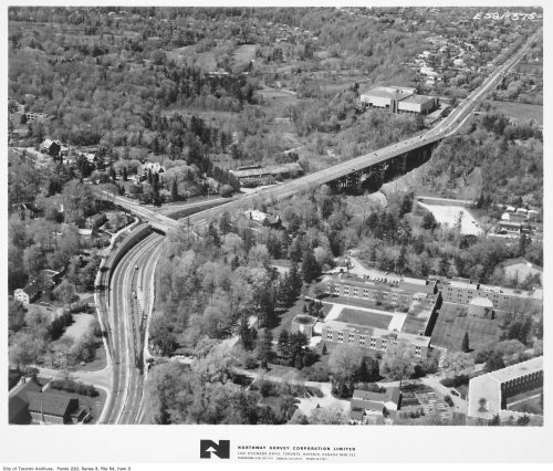 Aerial view of Bayview Bridge