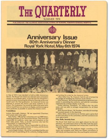 The Quarterly newsletter Summer 1974