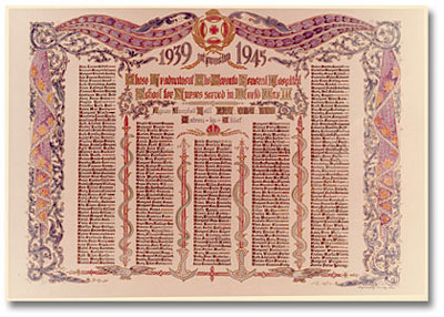 Honour roll of graduates who served in the Second World War 1952