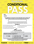 Yellow BodySafe - Conditional Pass