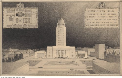 Sketch of proposed new Court House