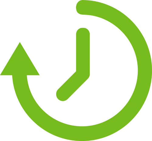 Clock icon representing timeliness