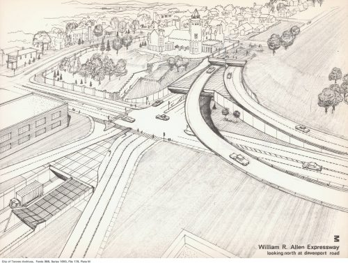 Sketch of proposed intersection, Allen Expressway and Davenport Road