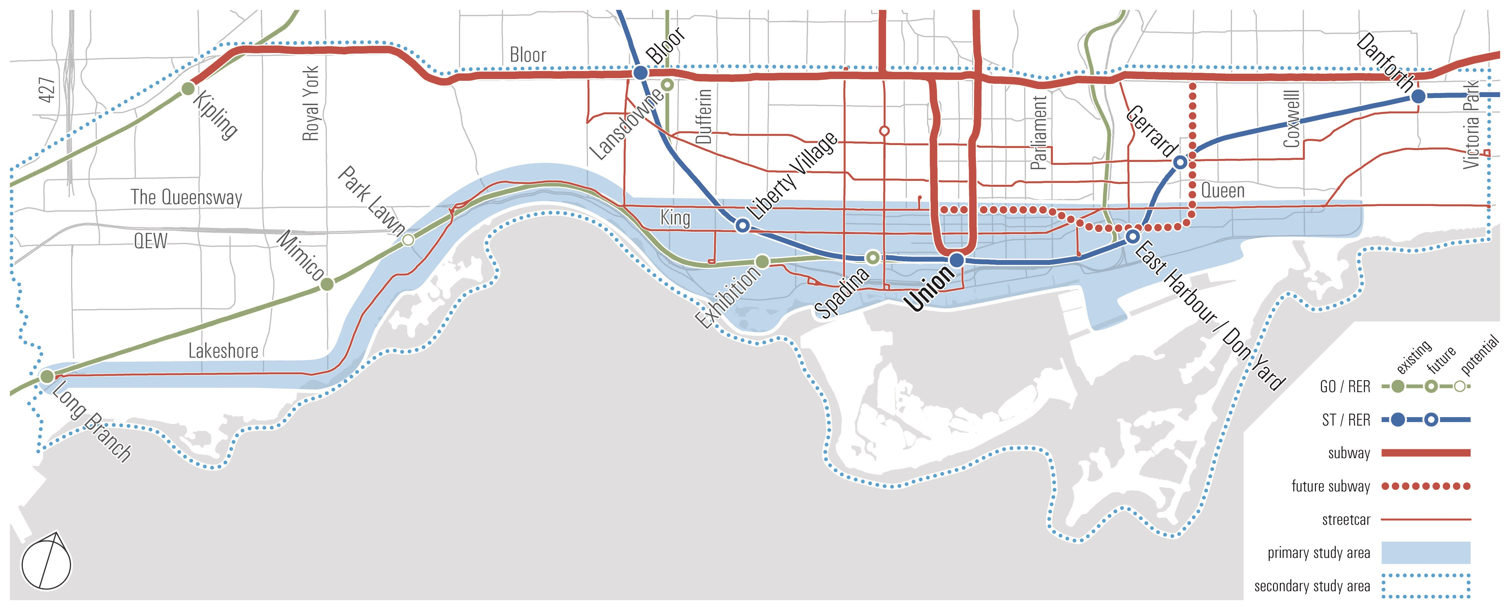 Toronto's waterfront is currently undergoing a significant transformation, with rapid growth in many precincts along the water's edge including Mimico, Humber Bay Shores, Liberty Village, Fort York, King/Spadina, City Place, South Core, and King/Parliament.