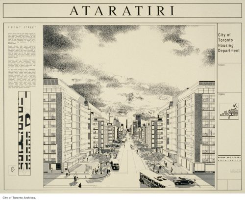 Concept drawing of Ataritiri project, ca. 1988
